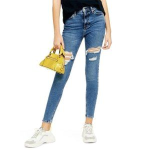 Topshop Jamie Thigh Ripped Distressed Skinny Jeans